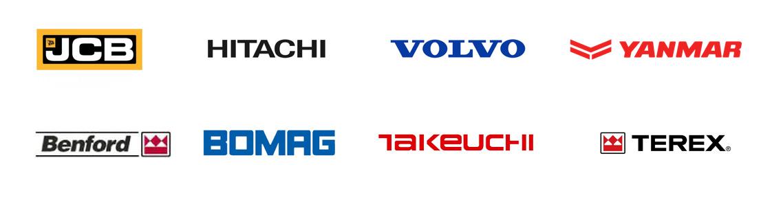 JCB, Hitachi, Volvo, Yanmar