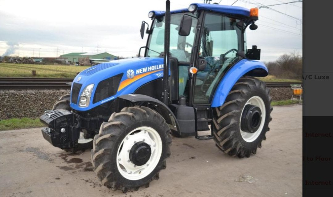 **SOLD** Unused New Holland T75 D
