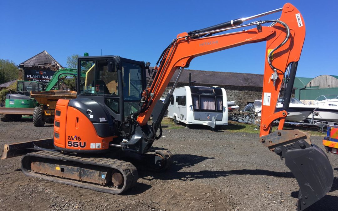 2017 Hitachi ZX55U-5 A CLR , One Company Owner From New, Immaculate