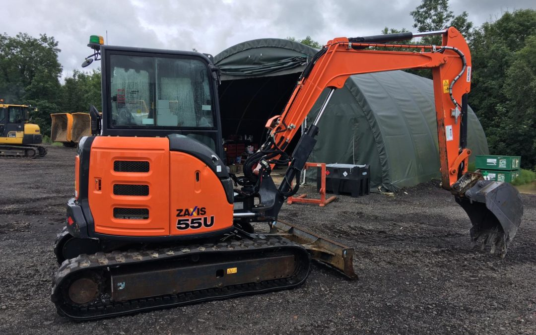 2017 Hitachi ZX55U-5 CLR , 2500 hrs , One Company Owner From New – Sold!!!